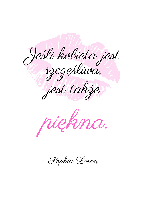 Typografia Cytat Sophia Loren