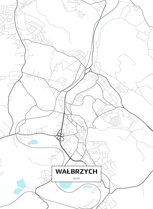 Mapa Walbrzycha Fototapeta Flizelinowa Decor Mint