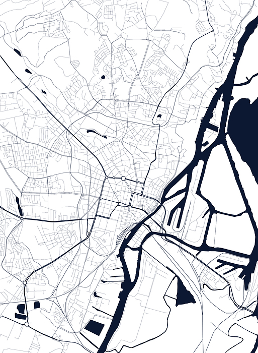 Mapa Szczecina Fototapeta Flizelinowa Decor Mint