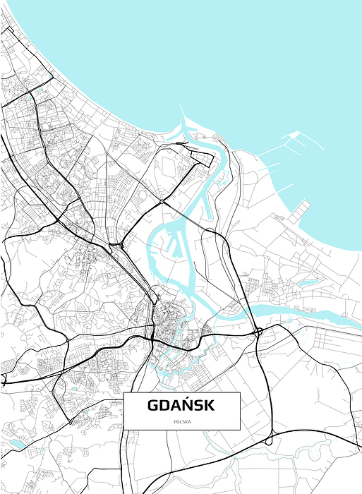 Mapa Gdanska Fototapeta Winylowa Decor Mint