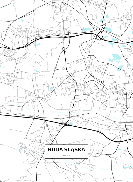Mapa Rudy śląskiej