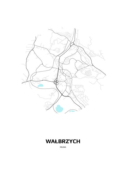 Mapa Walbrzycha W Kole Plakat Premium Decor Mint