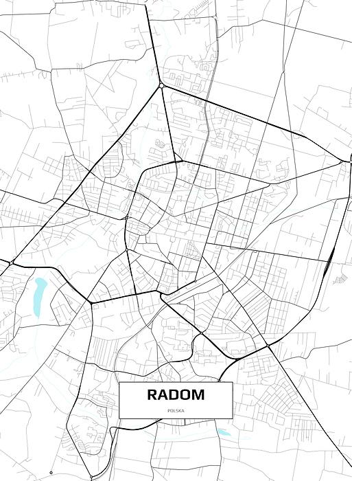 Mapa Radomia Obraz Na Plotnie Decor Mint