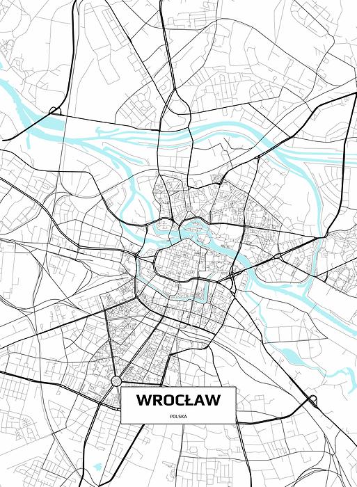 Mapa Wroclawia Fototapeta Flizelinowa Decor Mint