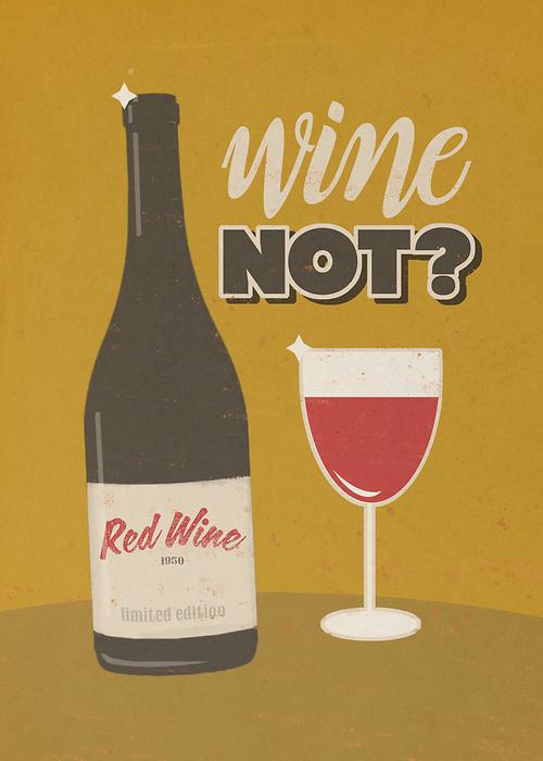 Ilustracja Wine Not
