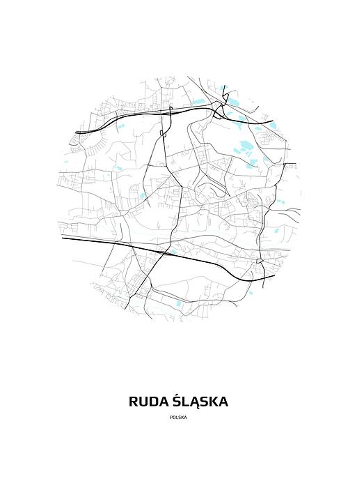 Mapa Rudy śląskiej W Kole