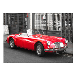 Old Vintage Red Sport Car